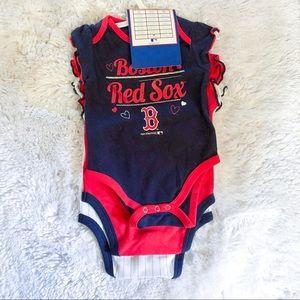 Boston Red Sox | three onesie bundle set